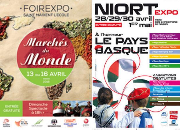 Retrouvez-nous en Avril aux Foires Expos de St Maixent et de Niort